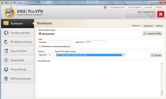 VPN singapore interface
